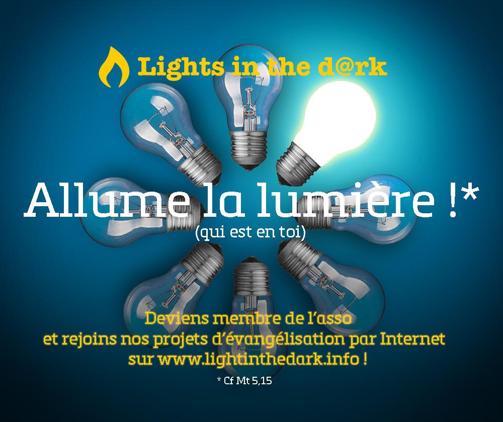 Allume la lumi re lights in the dark vang liser - Allume la lumiere ...